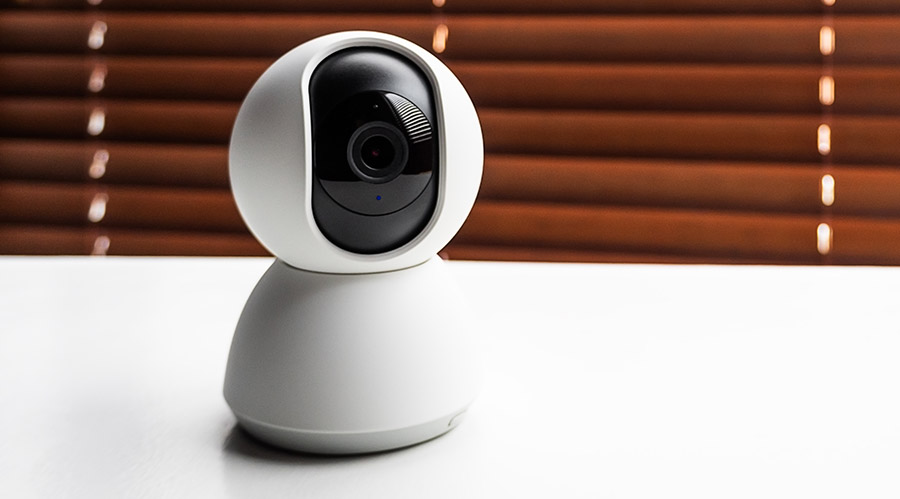 web camera for indoor video surveillance. home security and mode