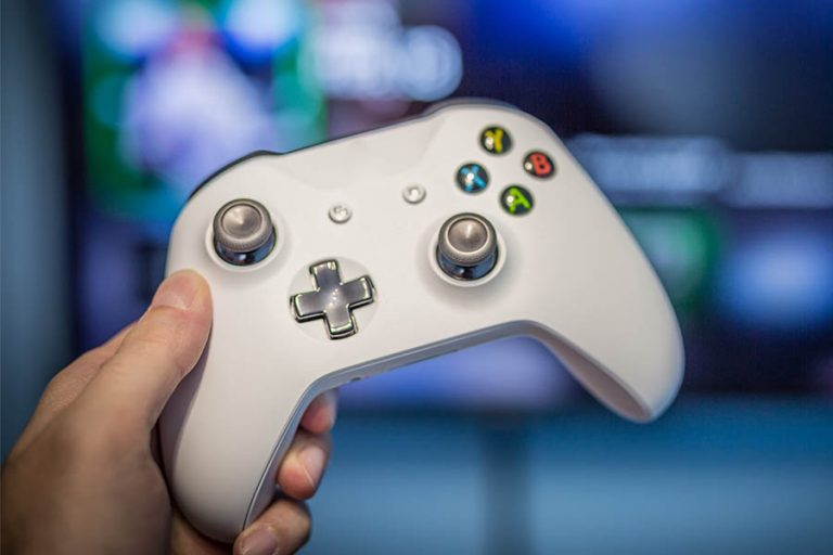 Xbox One Controller in Front of TV