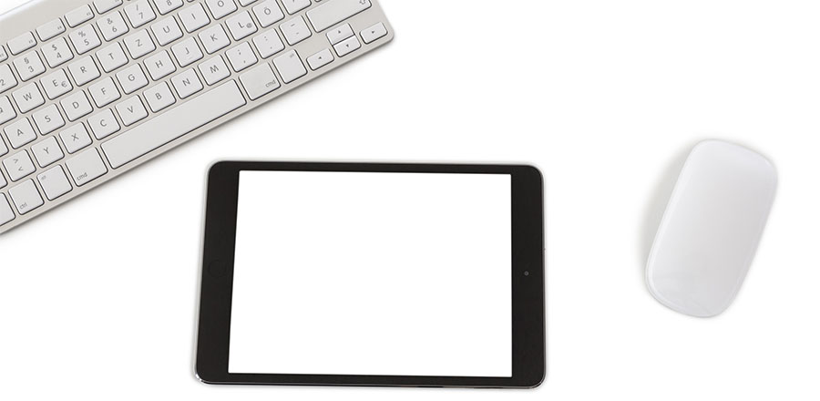 Tablet with Keyboard and Mouse