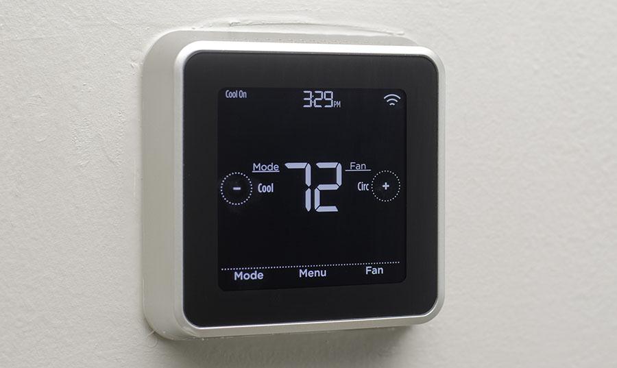 Close up Modern Digital Thermostat