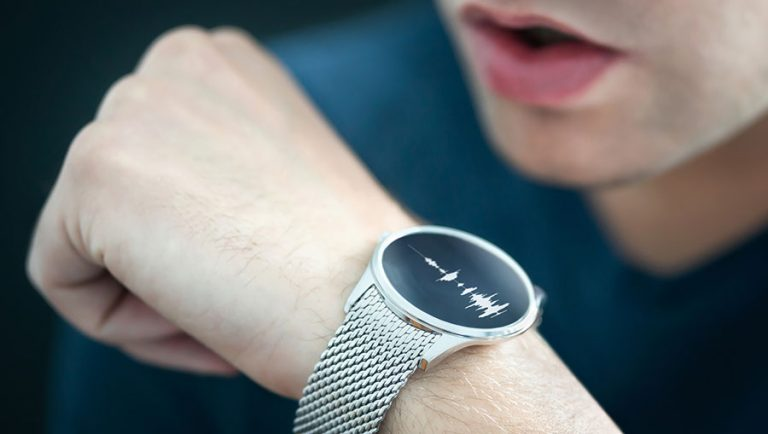 Voice recording or speech recognition technology in smart watch