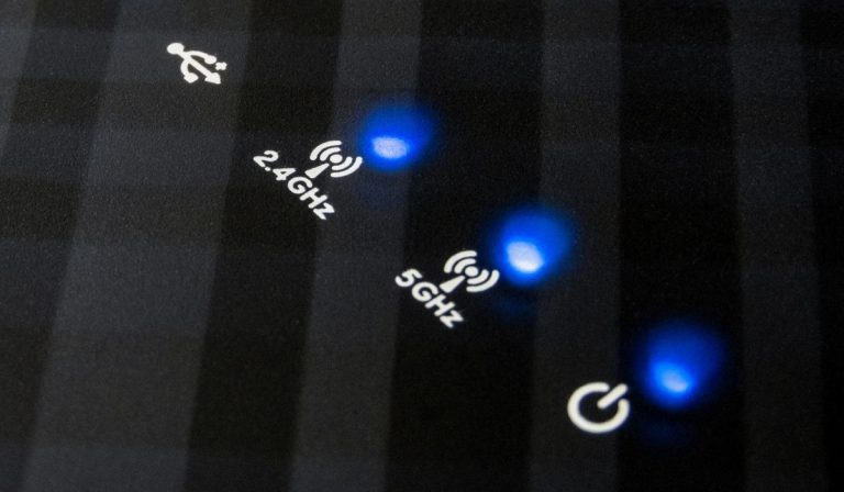 Blinking LEDs on a modern wireless router